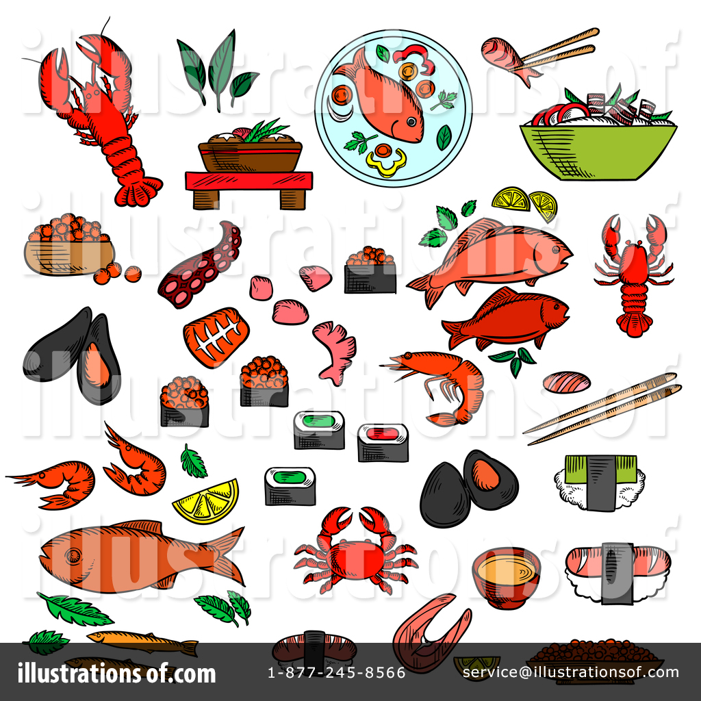 661 Seafood free clipart.