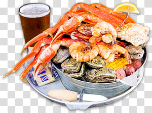 Seafood transparent background PNG cliparts free download.