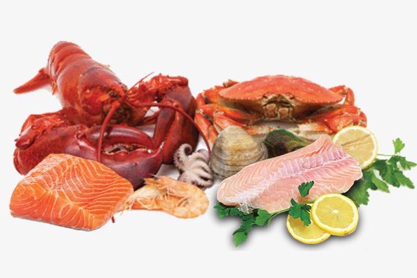 Seafood And Meat, Food, Seafood, Fish An #54696.