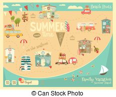 Seafront Clip Art Vector Graphics. 57 Seafront EPS clipart vector.