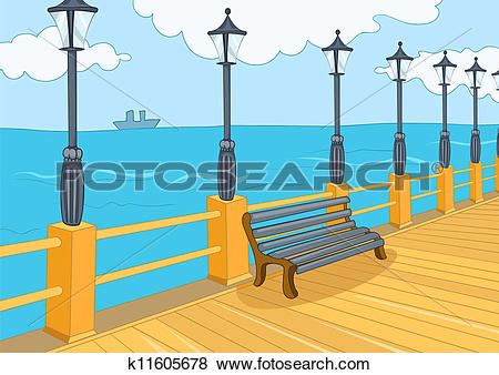 Clip Art of Seafront k11605678.