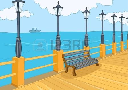 Beach Promenade Stock Vector Illustration And Royalty Free Beach.