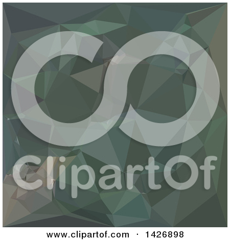 Clipart of a Low Poly Abstract Geometric Background in Light Sea.