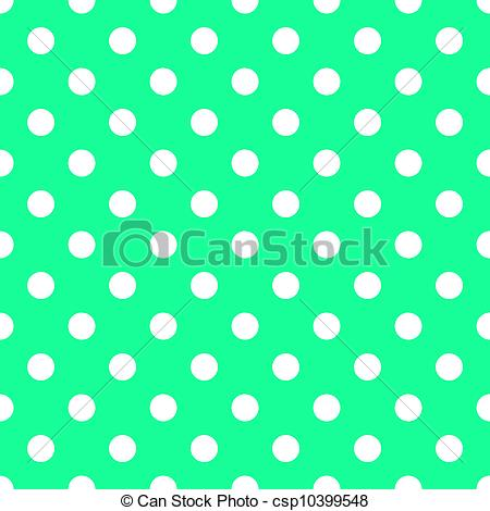 Drawing of White Dots on Bright Sea Green.
