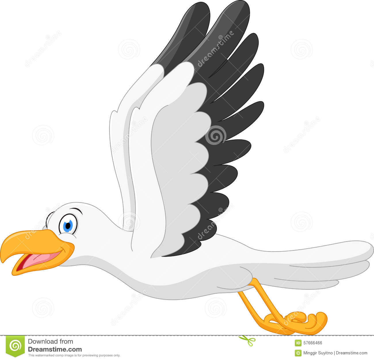 Showing post & media for Cartoon seagull flying clip art.