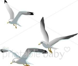 Seagulls flying clipart 2 » Clipart Portal.