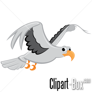 CLIPART FLYING SEAGULL.
