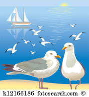 Seagulls Clipart Royalty Free. 3,395 seagulls clip art vector EPS.
