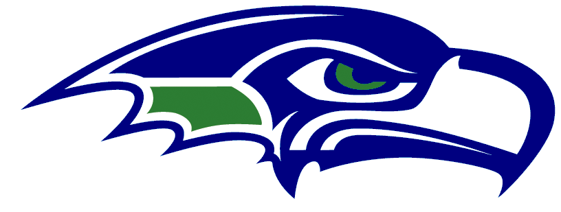 Black and white clipart seahawks logo.