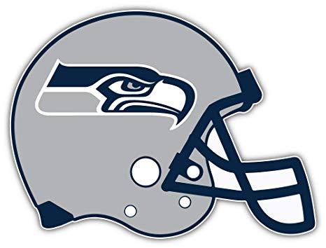 Amazon.com: qualityprint Seattle Seahawks Grey Helmet NFL.