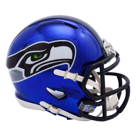Seattle Seahawks Chrome Mini Speed Replica Helmet.