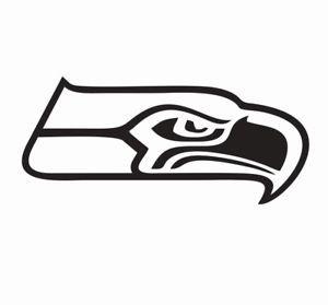 Black and White Seahawks Logo.