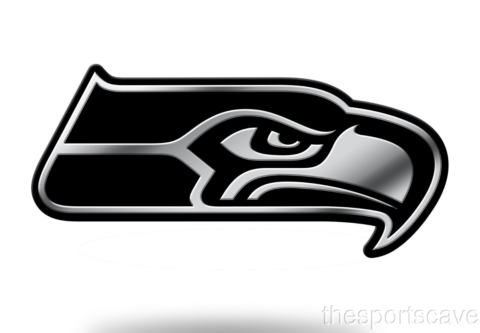 Details about Seattle Seahawks Logo 3D Chrome Auto Decal Sticker NEW Truck  Car Rico.