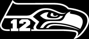seattle seahawks logo black and white.