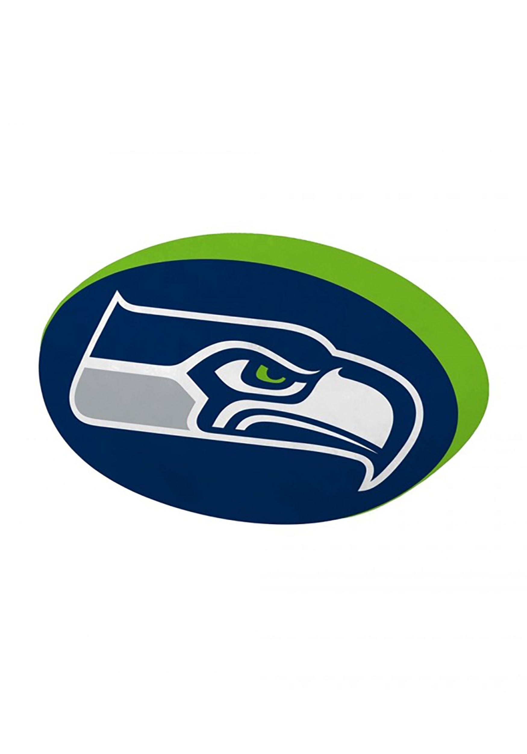 Cloud Seattle Seahawks Logo Pillow.
