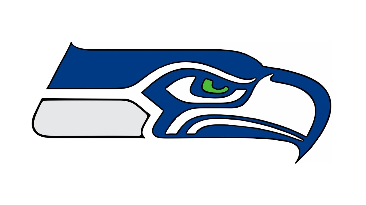 How to Draw the Seattle Seahawks Logo (NFL).