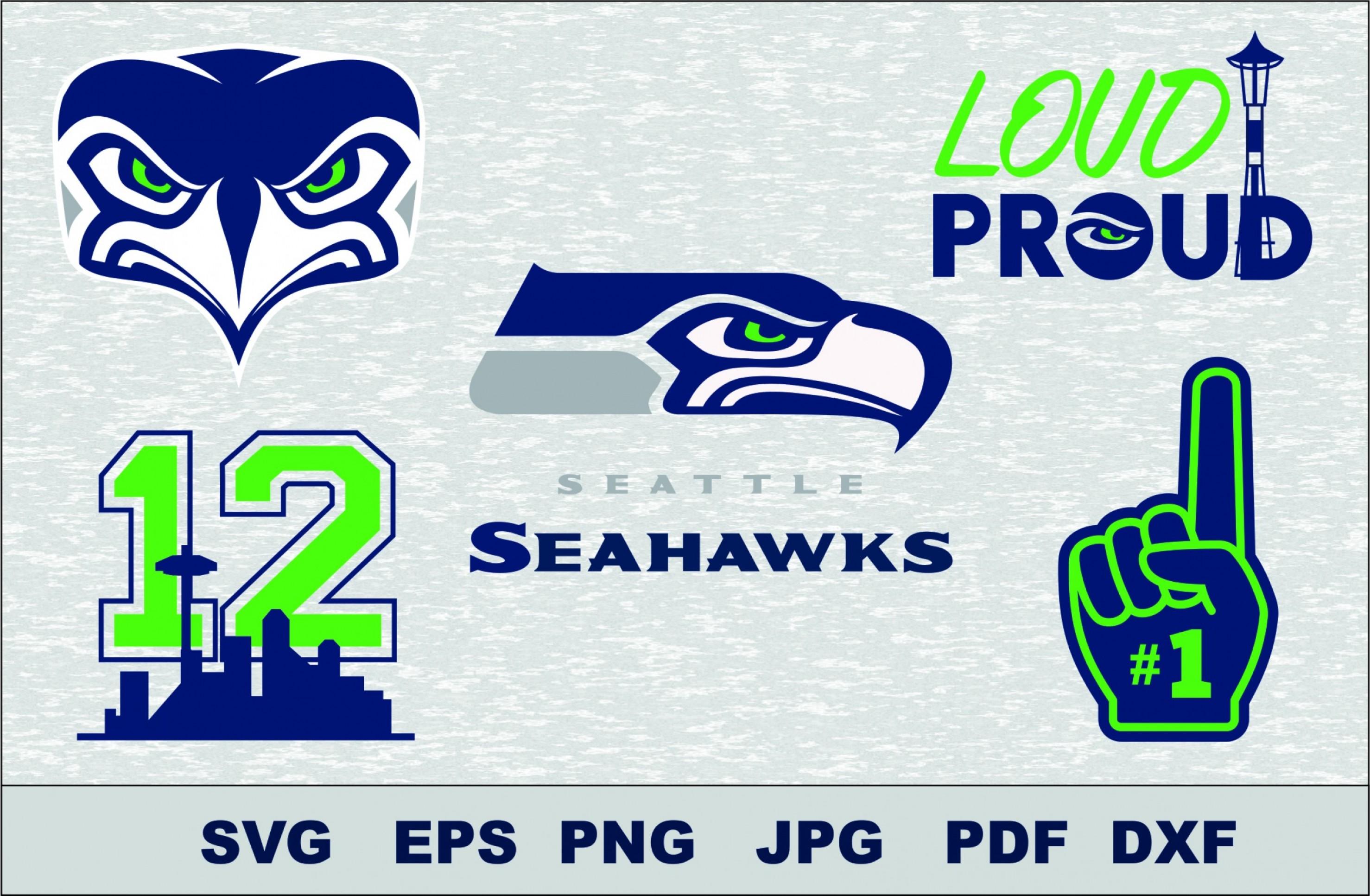 Seattle Seahawks Svg Dxf Logo Silhouette Studio Transfer.