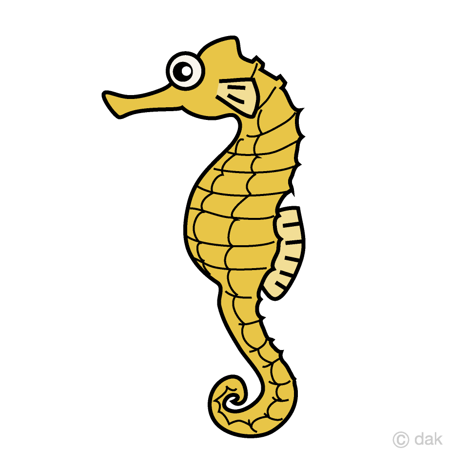 Seahorse Clipart Free Picture|Illustoon.