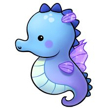 Cliparts Green Sea Horse Clipart.
