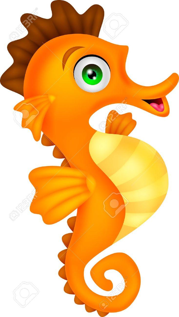 Seahorse clipart 4.