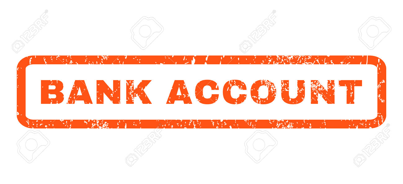 Bank Account Text Rubber Seal Stamp Watermark. Caption Inside.