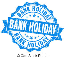 Bank holiday blue vintage isolated seal Clip Art and Stock.