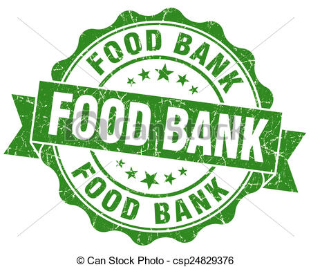 Stock Illustrations of food bank green grunge seal isolated on.
