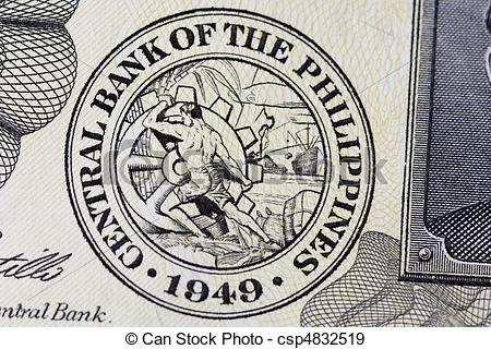 Stock Illustration of Central Bank Seal of the Philippines in.