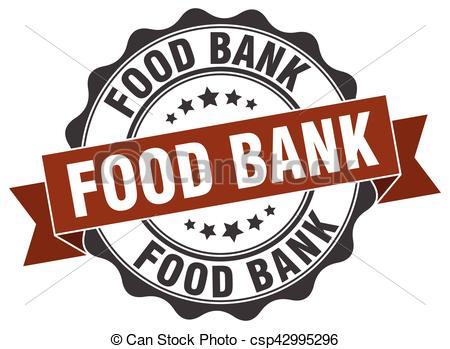 EPS Vectors of food bank stamp. sign. seal csp42995296.