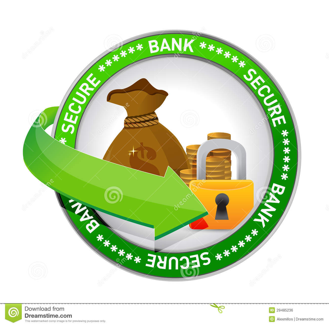 Bank Secure Money Icon Seal Royalty Free Stock Image.