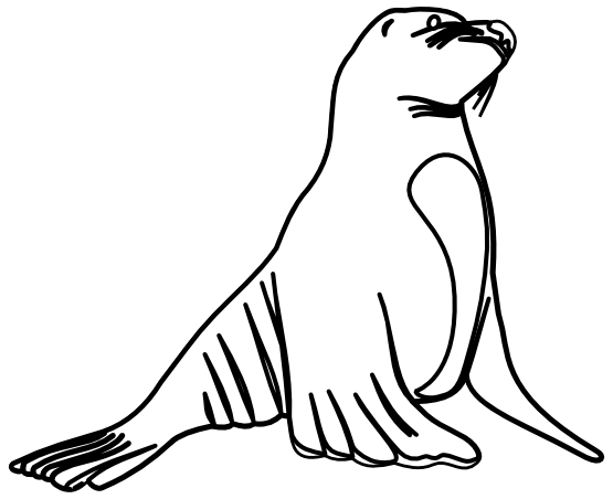 Seal Clip Art Black And White.