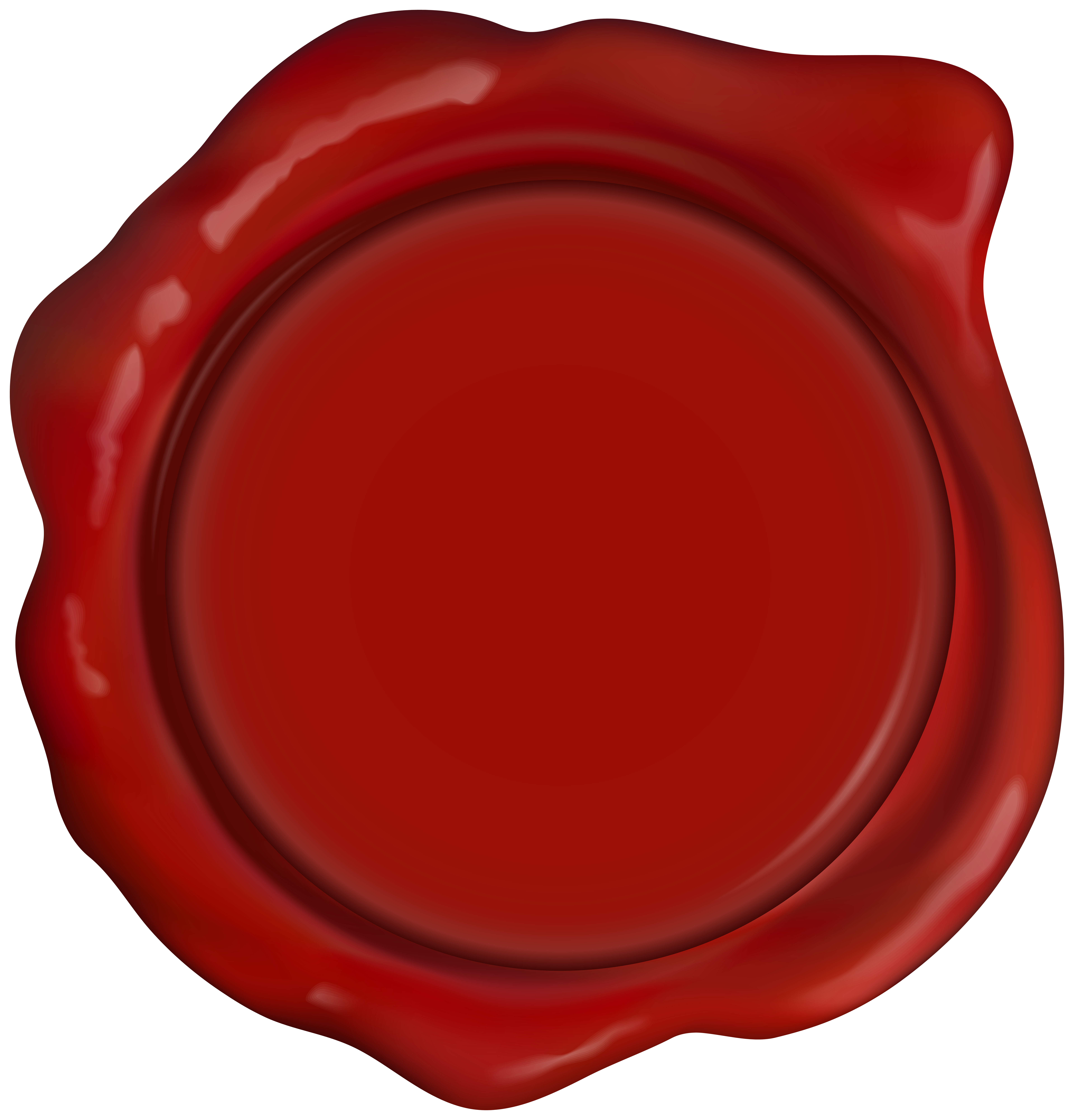 Red Wax Seal Stamp PNG Clipart.