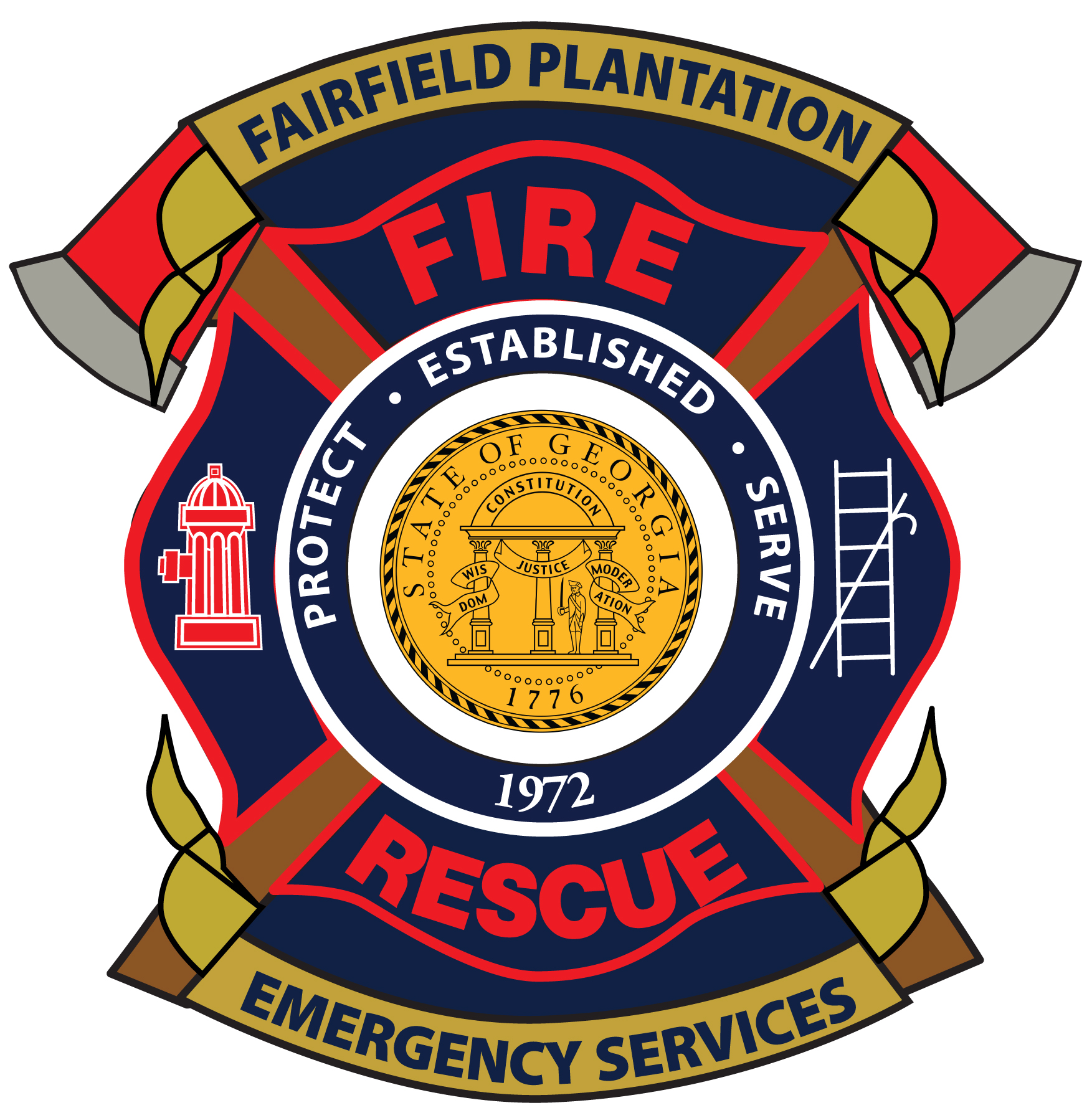Fire department seal clipart.