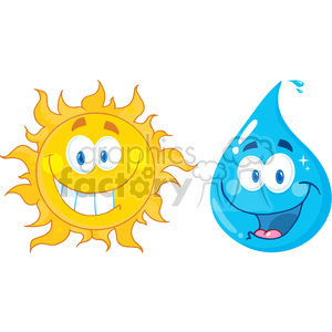 Sun And Water Clipart.