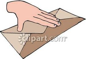 Sealing A Letter Clipart.