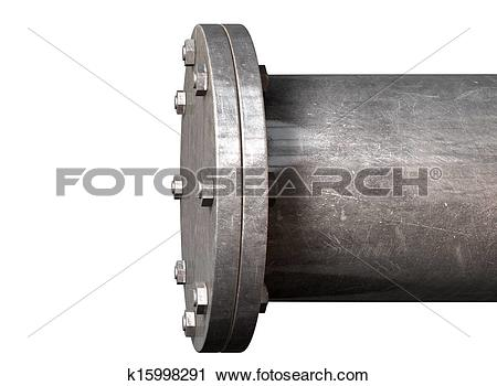 Clipart of Pipe With Sealed Off End k15998291.