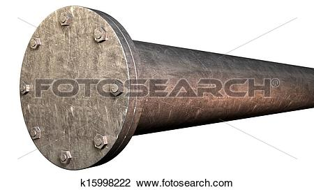 Stock Photo of Pipe With Sealed Off End k15998222.