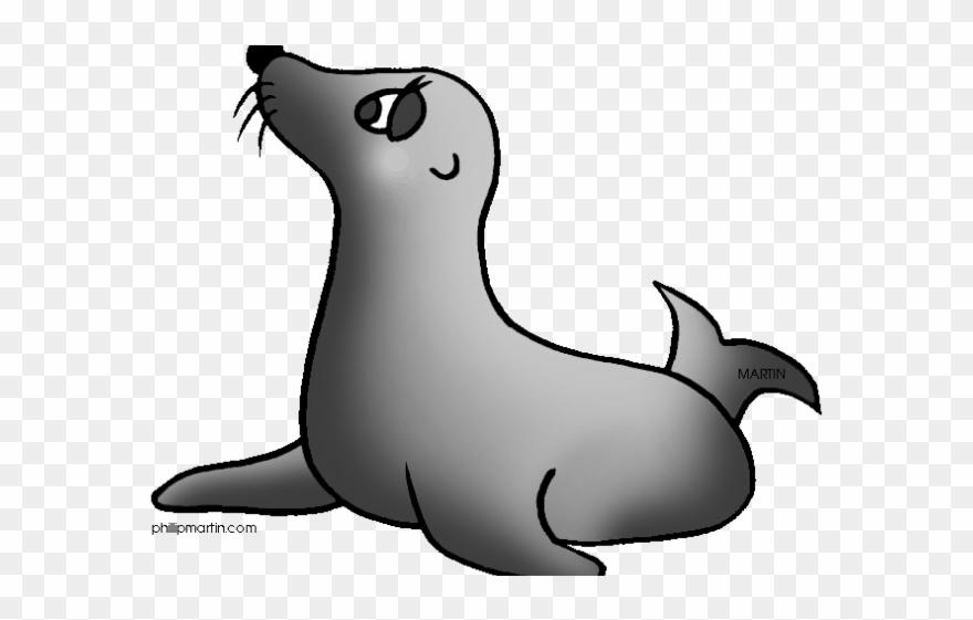 Seal Clipart Simple Cartoon.