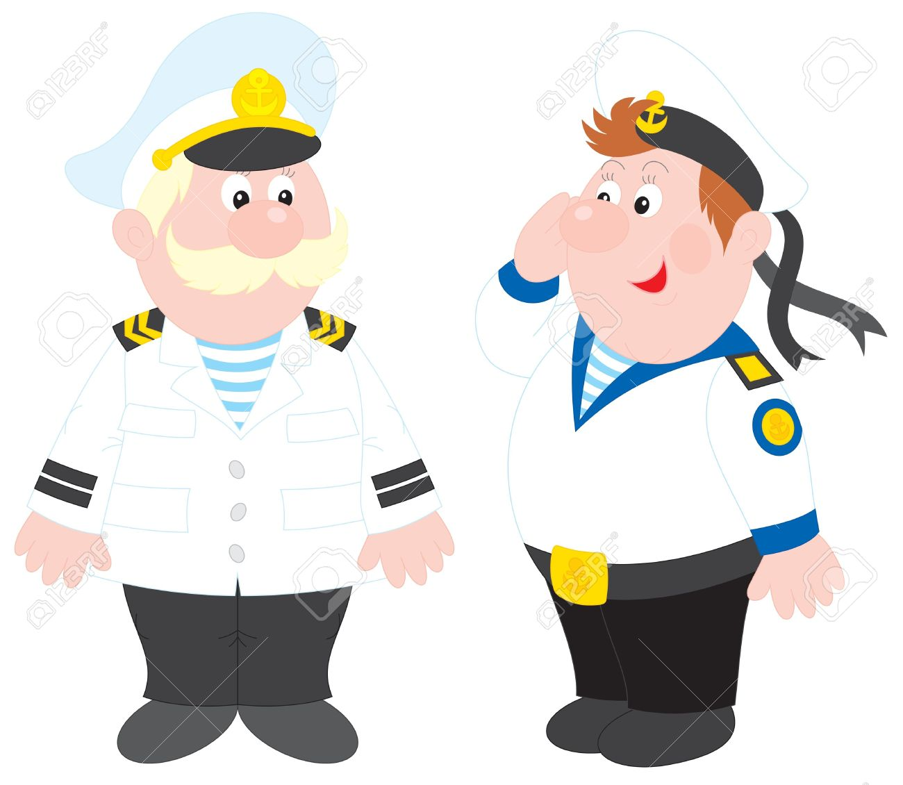 Sea Captain And Sailor Royalty Free Cliparts, Vectors, And Stock.