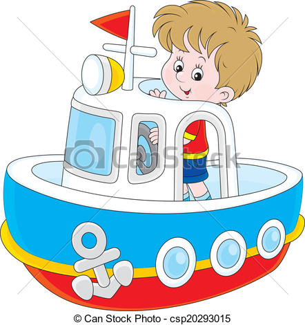 Vector Clip Art of Little seaman.