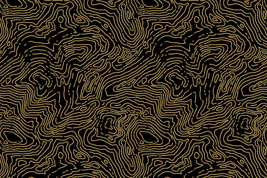 Topographic map seamless pattern.