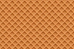 Crisp Waffles Pattern Seamless Texture Royalty Free Stock Image.