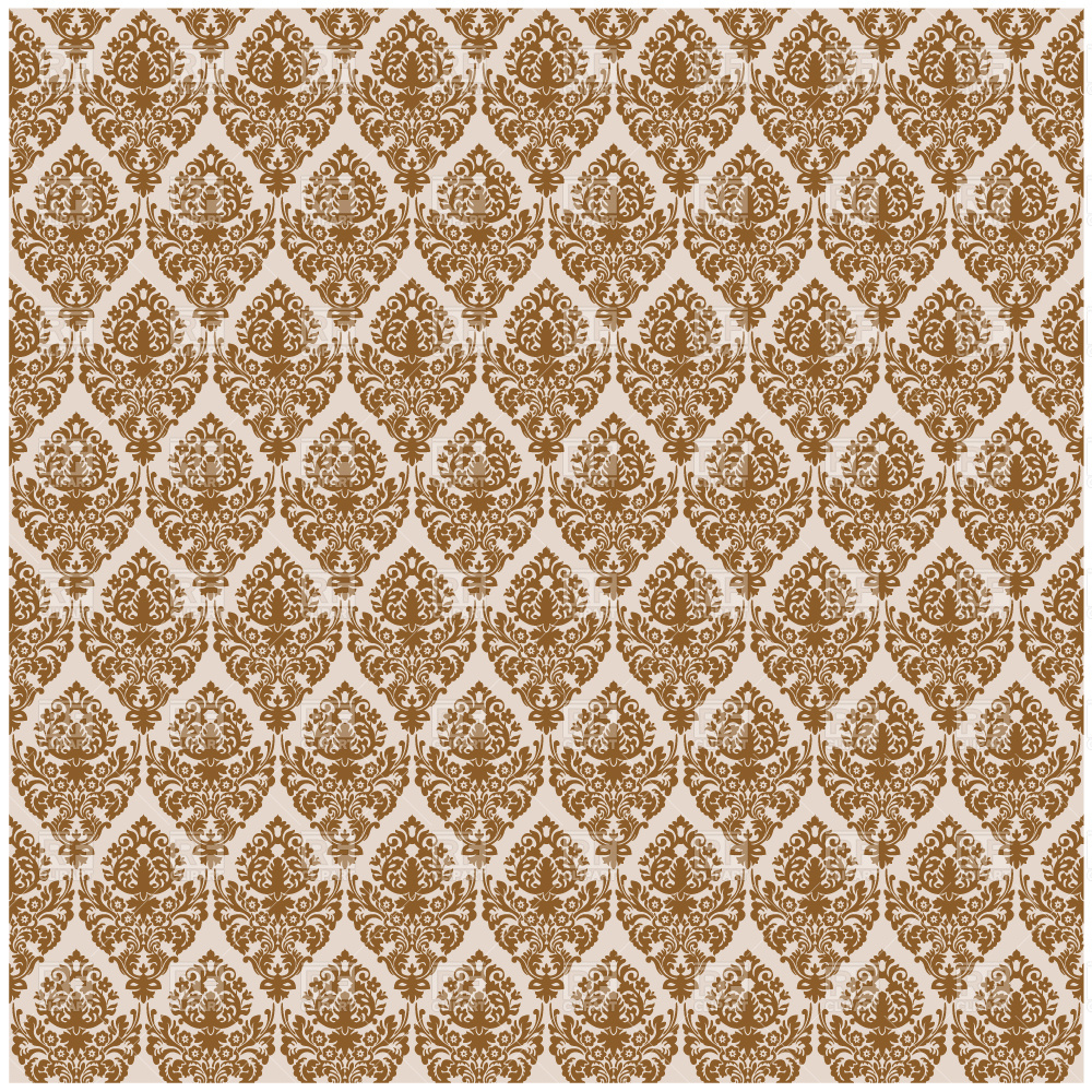 Brown damask seamless texture Vector Image #2360.