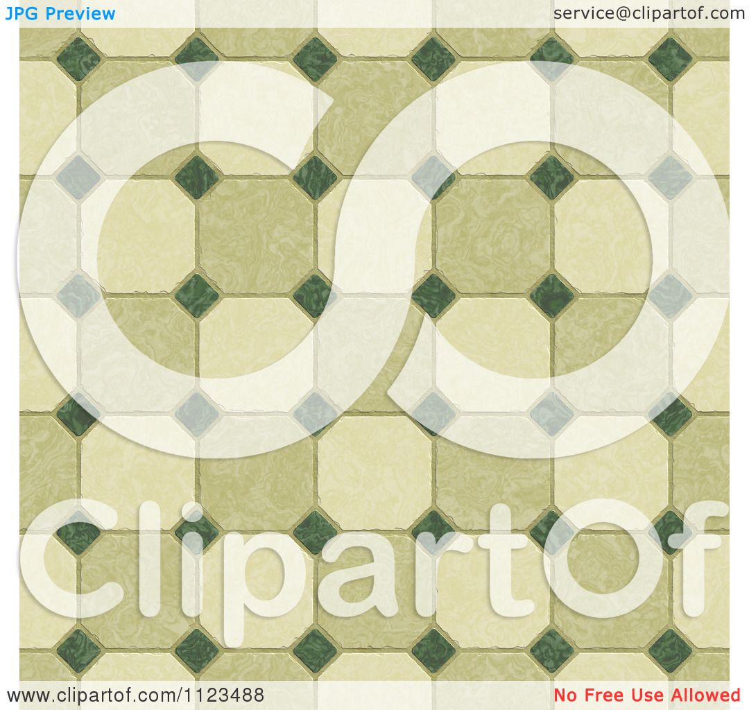 Clipart Of A Seamless Tile Floor Texture Background Pattern.