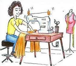 Free seamstress Clipart.