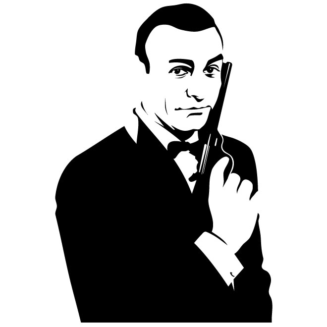 Sean Connery James Bond Clipart.