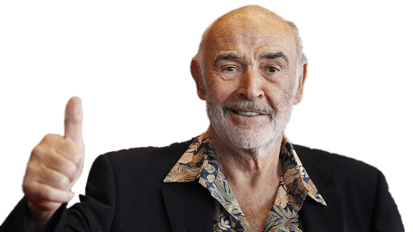 Sean Connery Thumbs Up transparent PNG.