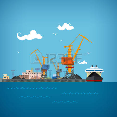 9,138 Sea Port Stock Vector Illustration And Royalty Free Sea Port.