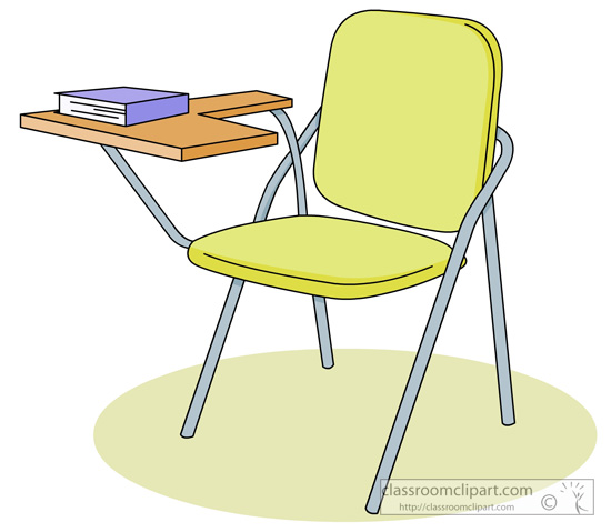 Student in seat clipart.