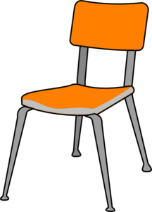 Student seat clipart.